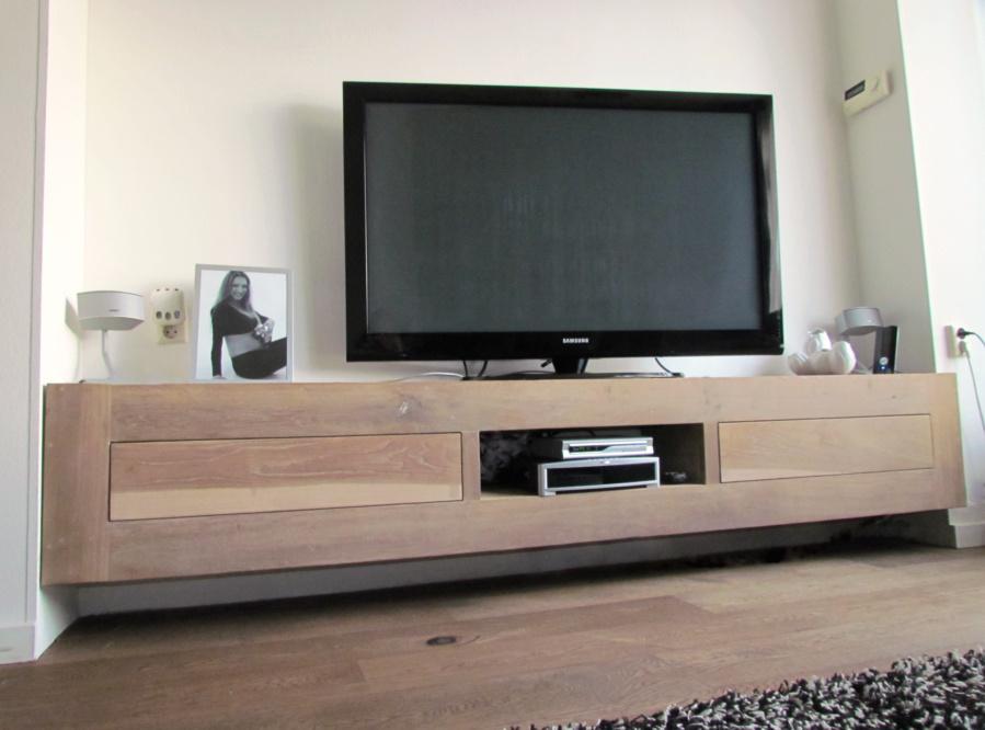 Eiken Tvmeubel Zwevend Tv Meubel Van Eiken Hangend Tv